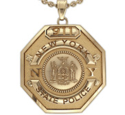 Personalized Police Badge Necklace or Charm   Shape 15