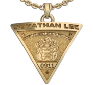 Personalized Police Badge Necklace or Charm   Shape 3