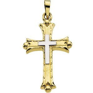 TWO TONE CROSS PENDANT