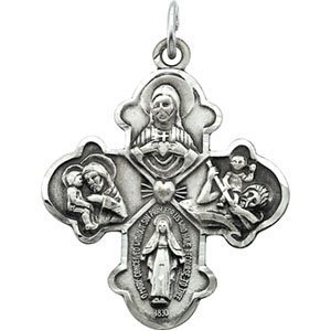 Sterling Silver 4 WAY CROSS PENDANT