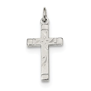 Sterling Silver Polished Satin 7 D C Cross Pendant