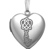 Sterling Silver Dyslexia Heart Photo Locket