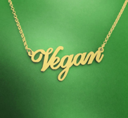 Vegan Necklace with 18 Inch Chain