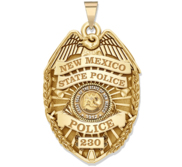 Personalized New Mexico STATE POLICE Badge with Your Number