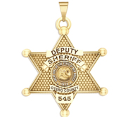 Personalized Otero County New Mexico Sheriff Badge with your Rank and Number