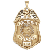 Personalized Albuquerque New Mexico Police Badge with Your Number