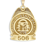 Personalized Georgia State Trooper Police Badge with Your Number