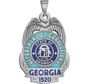 Personalized Georgia Corrections Badge with Your Number
