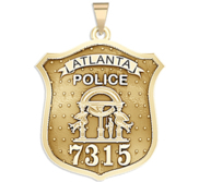 Personalized Atlanta Georgia Police Badge with Your Number