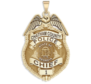 Personalized Georgia Police Badge with Your Name  Rank  Number   Department