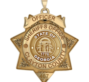 Personalized 7 Point Star Georgia Sheriff Badge with your Dept   Rank and Number