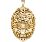 Personalized Wisconsin Police Badge with Your Name  Rank  Number   Department
