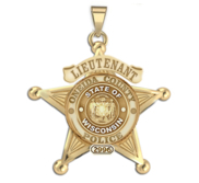 Personalized 5 Point Star Wisconsin Sheriff Badge with your Dept   Rank and Number