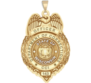 Personalized Wisconsin Corrections Badge with Your Number