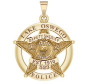 Personalized Lake Oswego County Oregon Sheriff Badge with Rank and Number