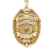 Personalized Oregon Police Badge with Your Rank  Number   Department