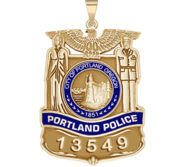 Personalized Portland Oregon Police Badge with Your Number