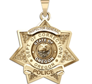Personalized Oregon Department of Corrections Badge with Number