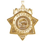 Personalized Nevada Corrections Badge with your Number