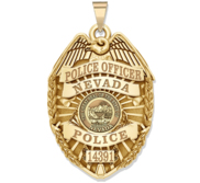 Personalized Nevada Police Badge with Your Rank  Number   Department