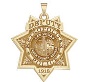 Personalized Las Vegas Nevada Metro Police Badge with your Rank and Number