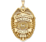 Personalized Delaware Police Badge with Your Rank  Number   Department