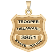 Personalized Delaware State Trooper Badge with Rank and Number