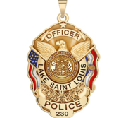 Personalized Lake St Louis Missouri Police Badge with Your Rank  Number   Department