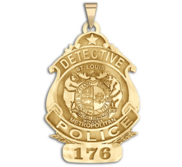 Personalized St Louis Missouri Police Badge with Your Rank  Number   Department