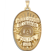Personalized Oval Shape Missouri Police Badge with Your Rank  Number   Department