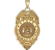 Personalized Missouri Higway Patrol State Trooper Badge with Your Rank and Number