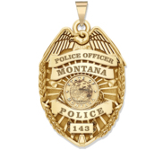 Personalized Montana Police Badge with Your Rank  Number   Department