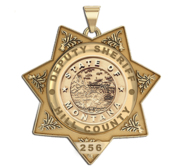 Personalized Montana Sheriff s Police Badge with Your Rank and Number