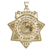 Personalized 7 Point Star Montana Trooper Badge with Rank  Number   Dept