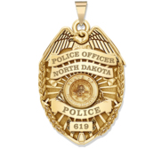 Personalized North Dakota Police Badge with Your Rank  Number   Department
