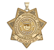 Personalized Arizona Highway Patrol with Rank and Number