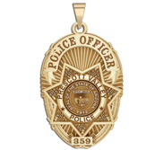Personalized Prescott Valley Arizona Police Badge with Your Rank and Department