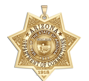 Personalized Arizona State of Corrections Badge with Number