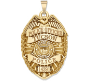 Personalized Arizona Police Badge with Your Rank  Number   Department