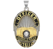 Personalized Louisville Kentucky Police Badge with Your Rank and Number