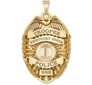 Personalized Kentucky Trooper Badge with Your Rank and Number