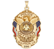 Personalized Sulphur Louisiana Police Badge with Your Rank  Number   Department