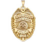 Personalized Louisiana Police Badge with Your Rank  Number   Department