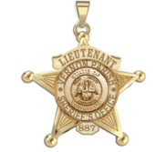 Personalized 5 Point Star Louisiana Sheriff Badge with Rank  Number   Dept