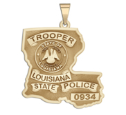 Personalized Louisiana State Trooper Badge with Rank and Number
