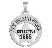 Personalized New Orleans Louisian Police Badge with your Rank and Number