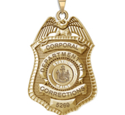 Personalized Maine Corrections Badge with Your Number