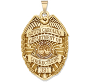 Personalized South Carolina Corrections Badge with Your Number