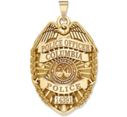 Personalized South Carolina Police Badge with Your Rank  Number   Department