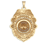 Personalized South Carolina Highway Patrol State Trooper Badge with Your Rank and Number